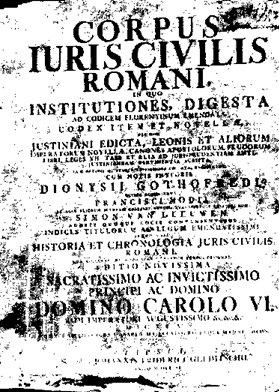Dissertation Compilation De Justinien